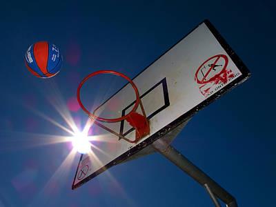 Shootin Hoops Poster by Tim Nichols