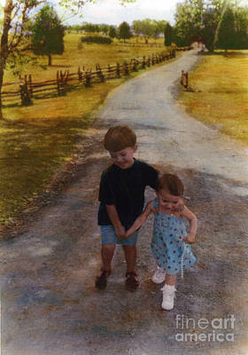 Siblings Poster by Cindy Roesinger