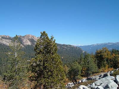 Sierra Nevada Mountains 2 Poster by Naxart Studio
