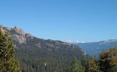 Sierra Nevada Mountains 3 Poster by Naxart Studio