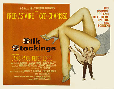 Silk Stockings, Fred Astaire, Cyd Poster by Everett