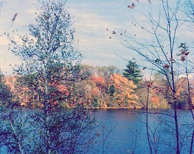 Silver Lake In Fall Poster by Debbie Wassmann