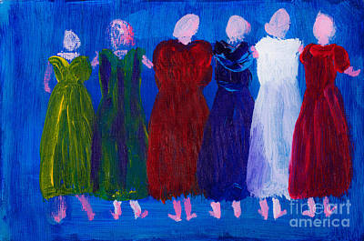 Six Ladies In Dresses Poster by Simon Bratt Photography LRPS