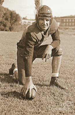 Slingin' Sammy Baugh 1937 Sepia Poster by Padre Art