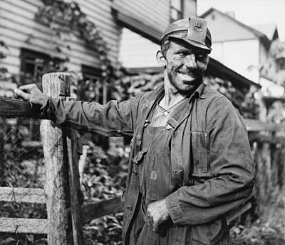 Smiling Polish-american Miner, In Work Poster by Everett