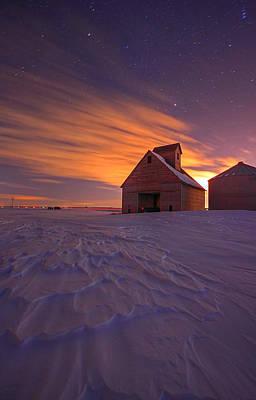 Snow Bound Barn Poster by Chris  Allington