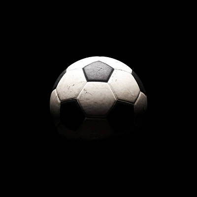 Soccer Ball In Shadows Poster by Thomas Northcut