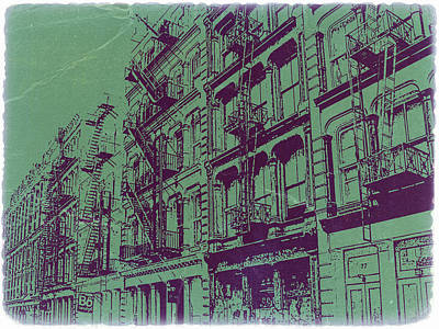Soho New York Poster by Naxart Studio