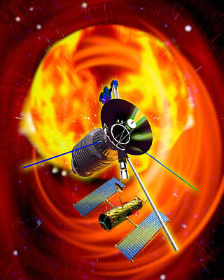 Solar Probes Poster by Victor Habbick Visions