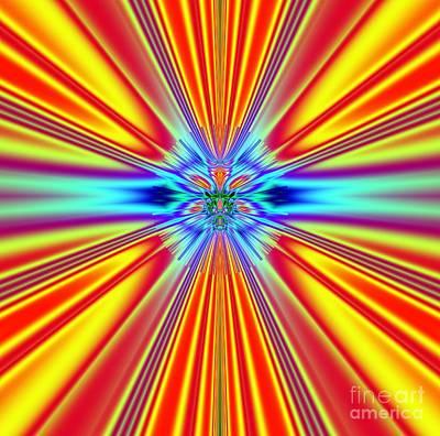 Solar Sun Flares Poster by Deborah Juodaitis