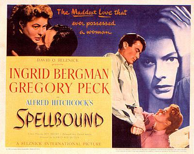 Spellbound, Ingrid Bergman, Gregory Poster by Everett