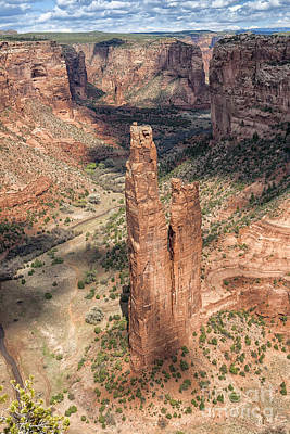 Spider Rock - Canyon De Chelly Poster by Sandra Bronstein