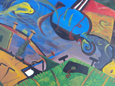 Abstract Representation Of The Word Sport Poster by Casey P