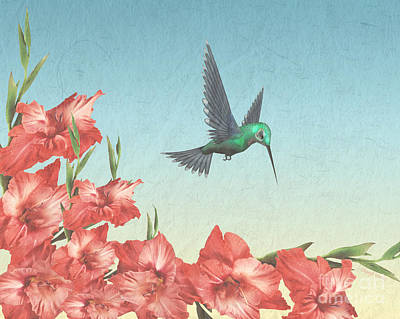 Spring Flight Poster by Cheryl Young