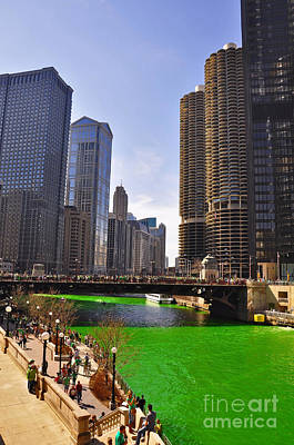 St Patrick's Day Chicago Poster by Dejan Jovanovic
