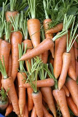Stack Of Orange Carrots Poster by Bjorn Svensson