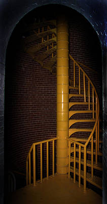 Stairs To The Top Poster by Skip Willits