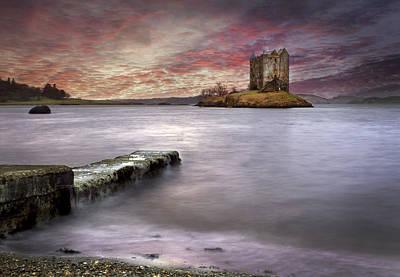 Stalker Castle At Sunset Poster by Trevor Sollars