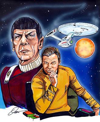 Star Trek Poster by Dave Olsen