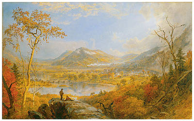 Starracca Viaduct Poster by Jasper Francis Cropsey