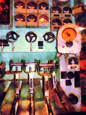 Steampunk - Electrical Control Room Poster by Susan Savad