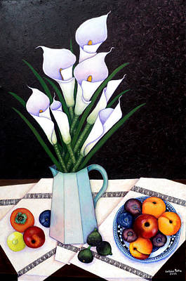 Still Life With Callas Poster by Madalena Lobao-Tello