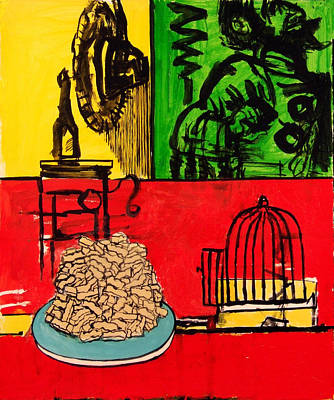 Still Life With French Fries Poster by Richard Huntington