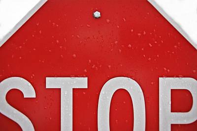 Stop Poster by Jarrod Erbe