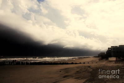 Stormy Beach At The Coast Of South Carolina Poster by Susanne Van Hulst