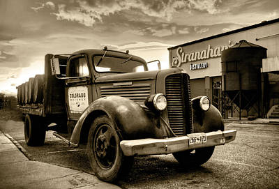 Stranahan's Whiskey Delivery Truck Poster by Trish McGinity