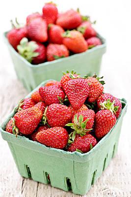 Strawberries Poster by Elena Elisseeva