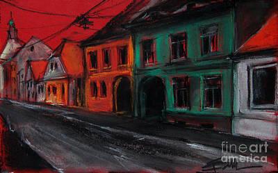 Street In Transylvania 1 Poster by Mona Edulesco