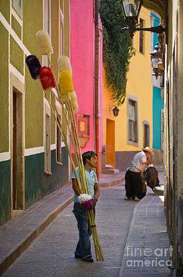 Streets Of Guanajuato Poster by Craig Lovell
