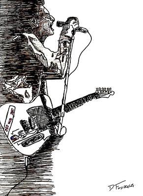 Strummer Poster by David Fossaceca