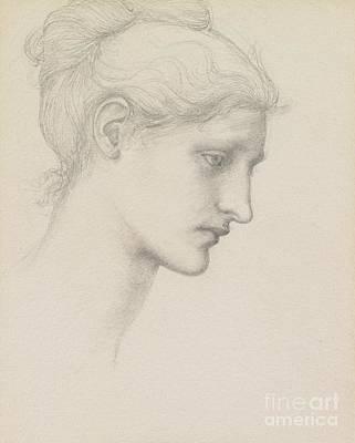 Study For Laus Veneria Poster by Sir Edward Burne Jones