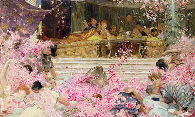 Study For The Roses Of Heliogabulus Poster by Sir Lawrence Alma-Tadema