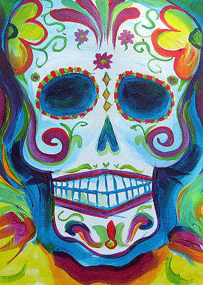 Sugar Skull Poster by Janet Oh
