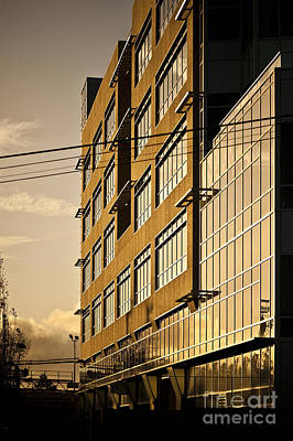 Sunlight Reflecting Off Of Building Facade Poster by Eddy Joaquim