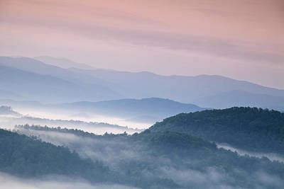 Sunrise In The Smokies Poster by Andrew Soundarajan