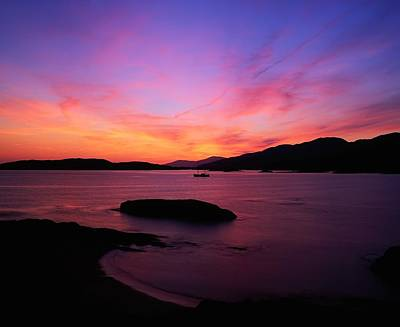 Sunset At Derrynane, Ring Of Kerry, Co Poster by The Irish Image Collection