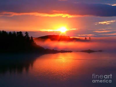 Sunset On Campobello Island  Poster by Edward Fielding