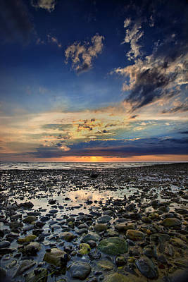 Sunset Over Bound Brook Island Poster by Rick Berk