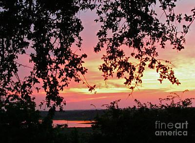 Sunset Over Canyon Lake Poster by Randi Shenkman