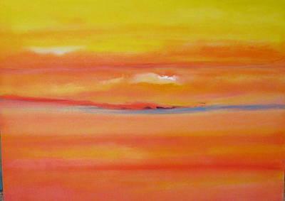Sunset Over Santa Fe Poster by Jane Ubell-Meyer