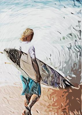 Surfer Poster by Tilly Williams