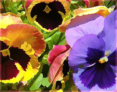 Surreal Pansies Poster by Mindy Newman