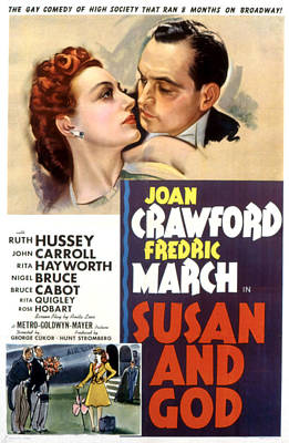 Susan And God, Joan Crawford, Fredric Poster by Everett