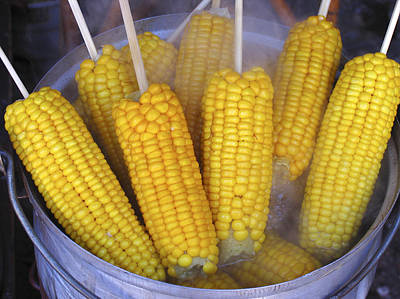 Sweetcorn Cobs Being Cooked Poster by Bjorn Svensson