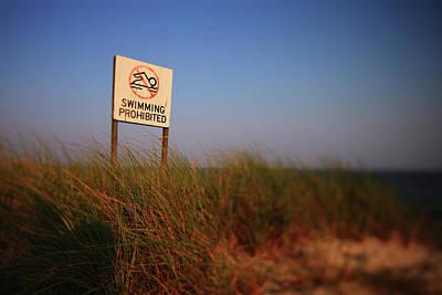 Swimming Prohibited Poster by Rick Berk
