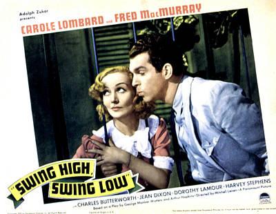 Swing High, Swing Low, Carole Lombard Poster by Everett